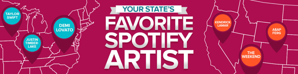 Your State's Favorite Spotify Artist
