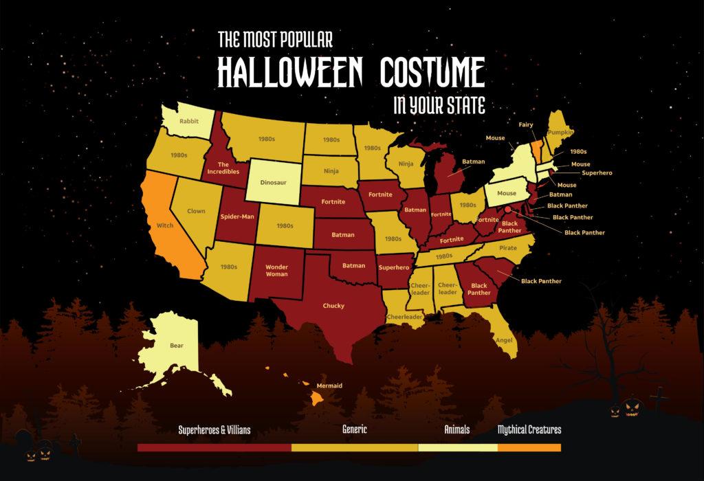 Halloween Costume map 2019